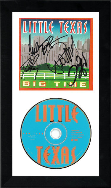 5-Signature Little Texas Band Signed Big Time Album CD Cover With CD 6.5x12 Custom Framed - Dwayne OBrien/Tim Rushlow (JSA GG08379)