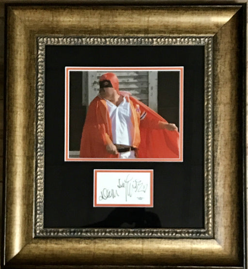 dom deluise signed framed autograph display as captain koas from the cannonball run jsa f87884 certificate of authenticity