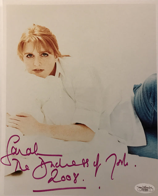 sarah ferguson signed duchess of york 2008 8x10 jsa f87885 certificate of authenticity