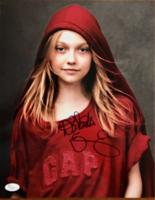 dakota fanning signed 11x14 as pita ramos from man on fire jsa i61494 certificate of authenticity