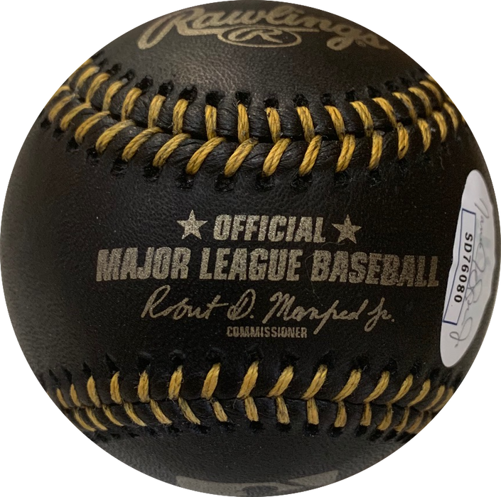 Fernando Tatis Jr Autographed Black Official Major League Baseball (JSA)