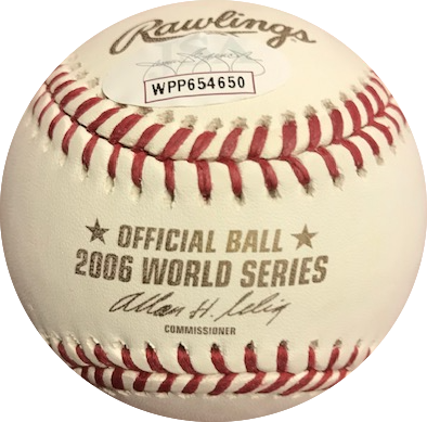 Jim Edmonds Autographed 2006 World Series Official Major League Baseball (JSA)