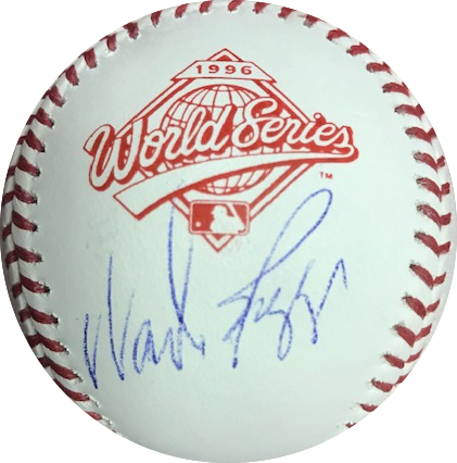Wade Boggs Autographed 1996 World Series Official Major League Baseball JSA