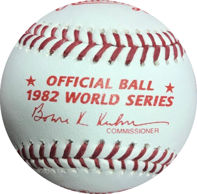 Ozzie Smith Autographed 1982 World Series Official Major League Baseball (JSA)