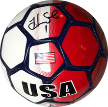 Hope Solo Autographed Full Size USA Soccer Ball Red/White/Blue (JSA COA) MISC