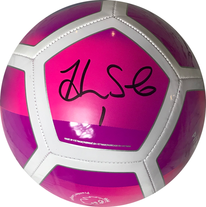 Hope Solo Autographed Full Size USA Nike Pink Soccer Ball (JSA)