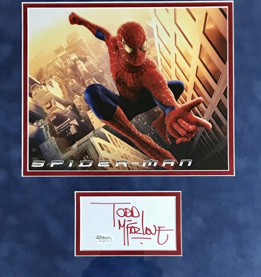 Todd McFarlane Signed Framed Autograph Display Artist of The Amazing Spiderman (JSA)