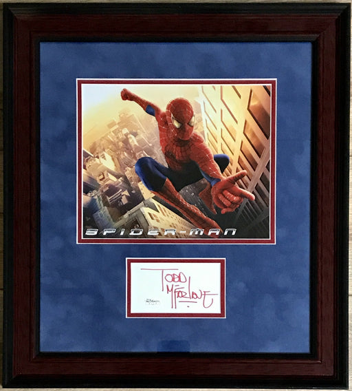todd mcfarlane signed framed autograph display artist of the amazing spiderman jsa mcfarlane certificate of authenticity