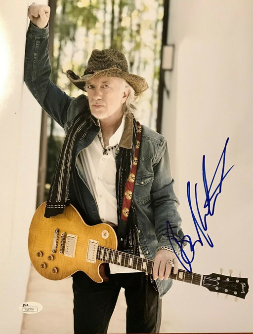 brad whitford signed 11x14 from aerosmith jsa n15776 certificate of authenticity