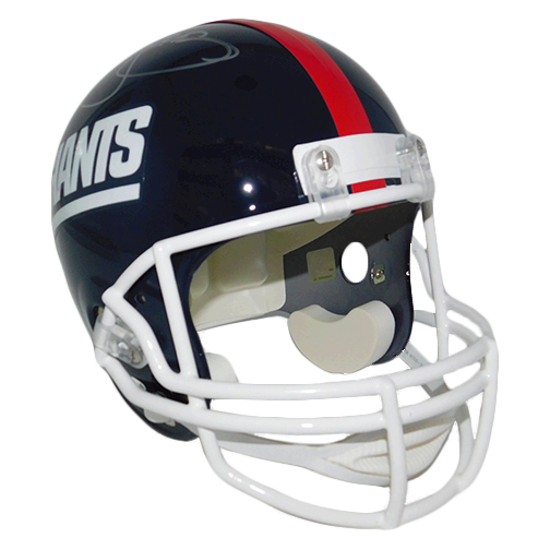 Lawrence Taylor New York Giants Autographed Mini Football Helmet Blue (JSA)