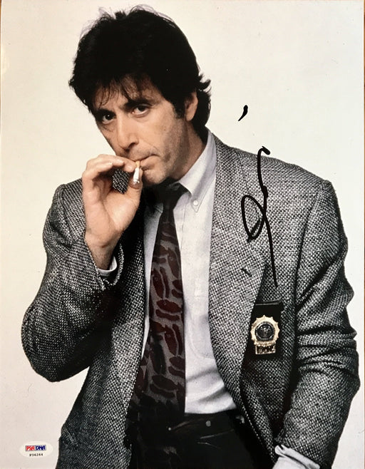 al pacino signed 11x14 as vincent hanna from heat psa p34264 certificate of authenticity