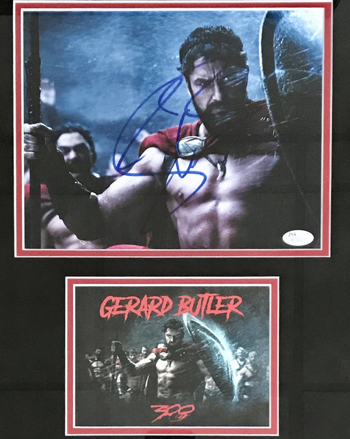 Gerard Butler Signed Framed Autograph Display as King Leonidis from 300 (JSA R63001)