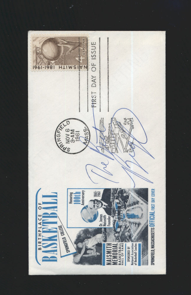1961 cachet envelope signed oscar robertson milwaukee bucks jsa certificate of authenticity