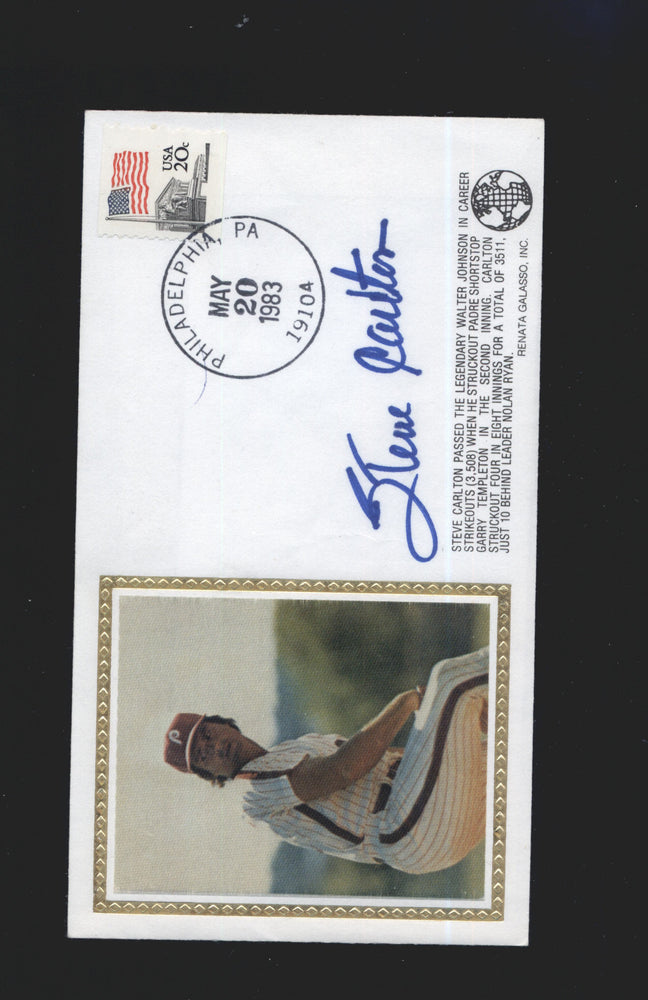 1983 cachet envelope signed steve carlton philadelphia phillies jsa 5 certificate of authenticity