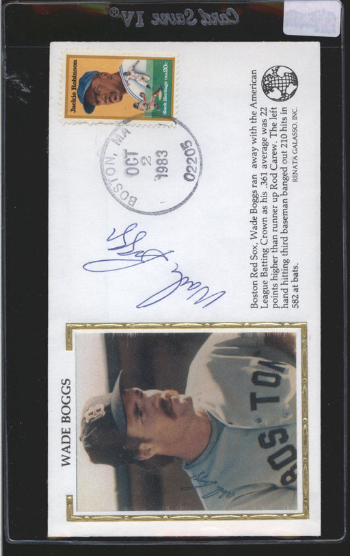 1983 cachet envelope signed wade boggs boston red sox jsa 2 certificate of authenticity