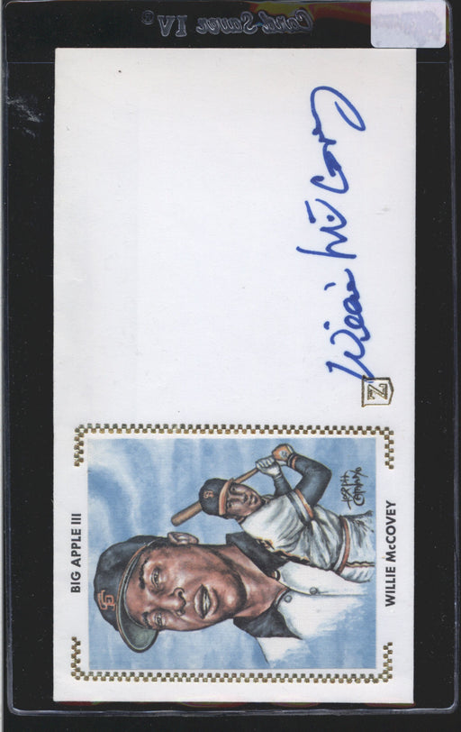 cachet envelope signed willie mccovey san francisco giants jsa certificate of authenticity