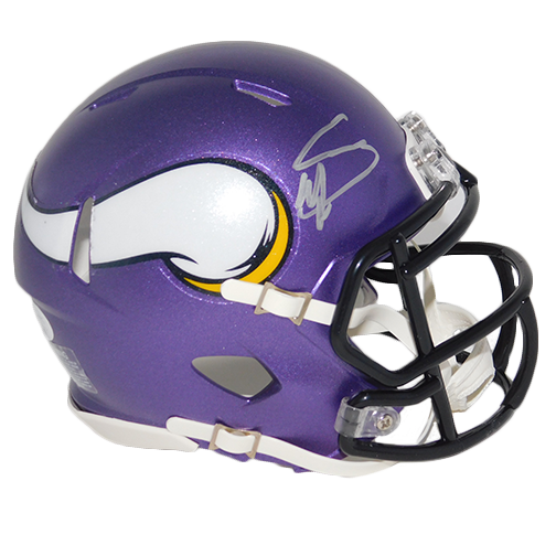 Stefon Diggs Vikings Autographed Mini Speed Football Helmet (JSA-Certified)