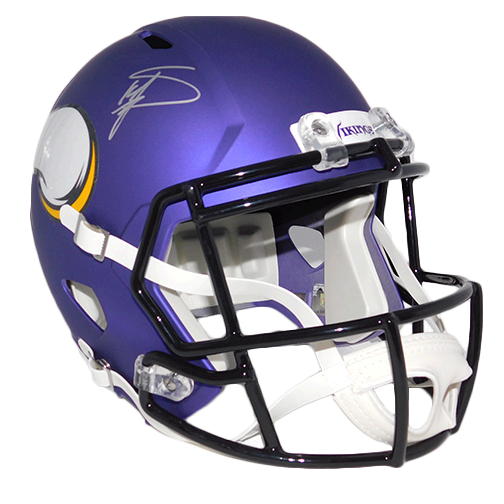 Stefon Diggs Autographed Vikings Full Size Speed Football Replica Helmet Purple (JSA COA)