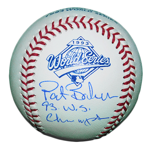 "Pat Borders Toronto Blue Jays Autographed Official Major League Baseball ""93 WS Champ"" Insc (JSA )"