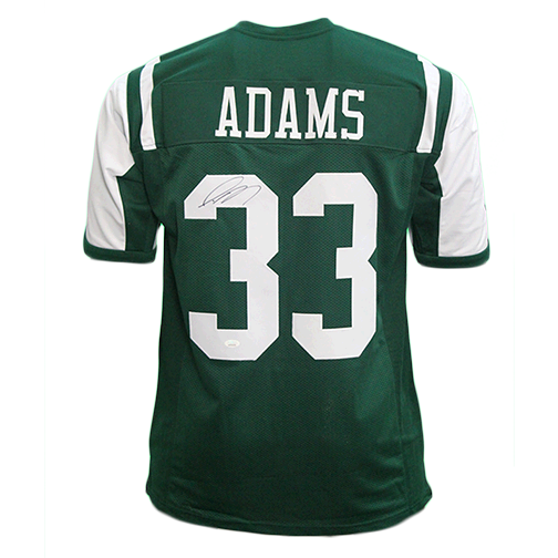 Jamal Adams Autographed Pro Edition Football Jersey Green Throwback (JSA)