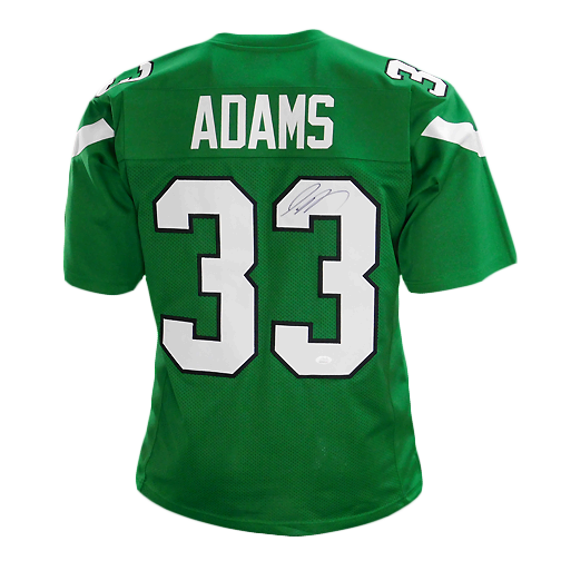 Jamal Adams Signed Pro Modern Edition Green Football Jersey (JSA)