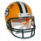 Davante Adams Packers Autographed Mini Football Helmet Yellow (JSA)