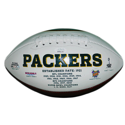 Davante Adams Green Bay Packers Logo Football (JSA-Certified)