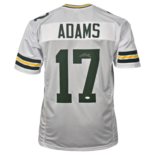 Davante Adams Signed Pro-Style White Football Jersey (JSA)