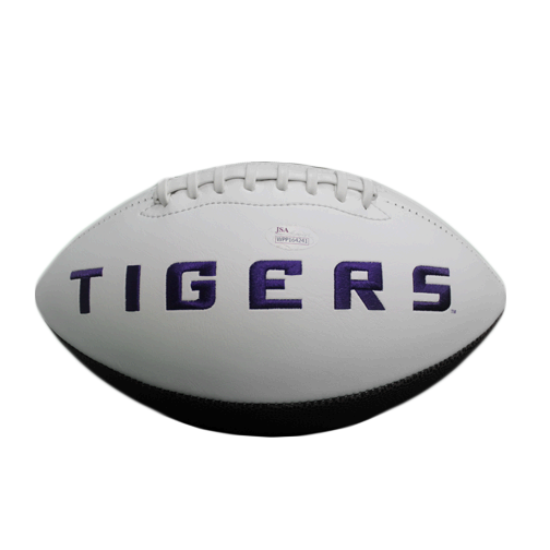 Jamal Adams Autographed LSU Full Size Logo Football (JSA COA)