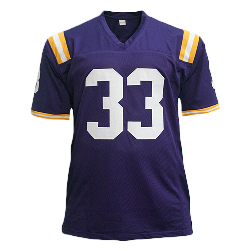 Jamal Adams LSU Tigers Autographed Football Jersey Purple (JSA)