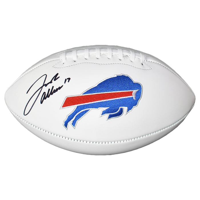 Josh Allen Signed Buffalo Bills Logo Football (JSA)