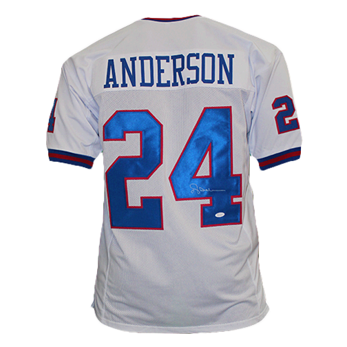 Ottis Anderson Pro Style Autographed Football Jersey White (JSA)