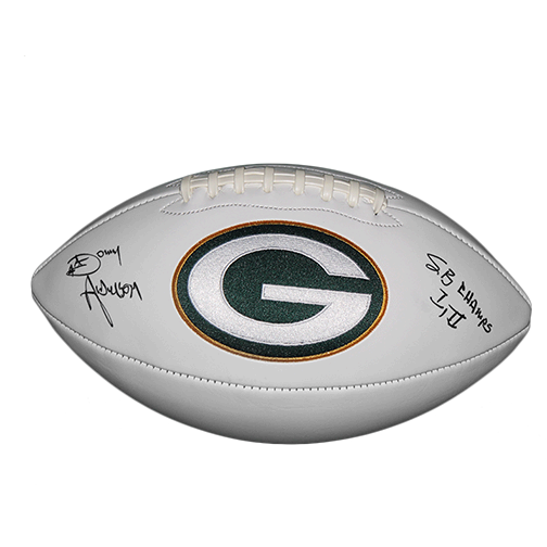 Donny Anderson #44 Green Bay Packers Super Bowl Football (JSA)