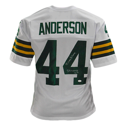 Donny Anderson Signed Super Bowl Champs Pro Edition White Football Jersey (JSA)