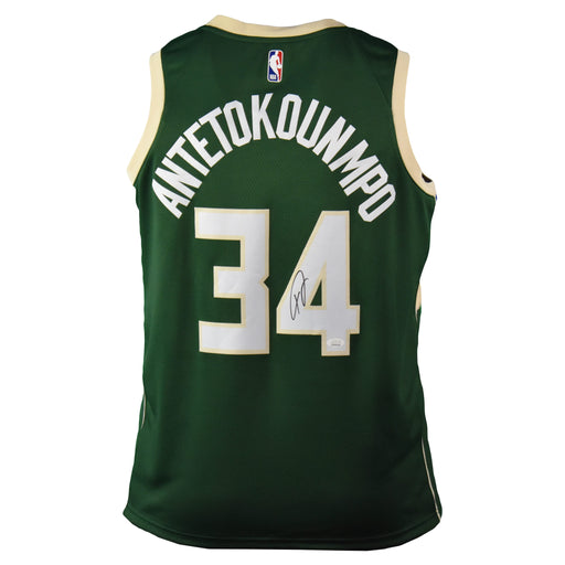 Giannis Antetokounmpo Signed Milwaukee Bucks Nike Swingman Basketball Jersey (JSA)