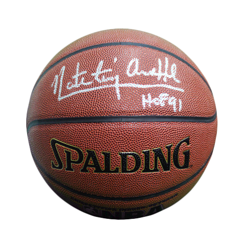 "Nate ""Tiny"" Archibald Signed HOF '91 Inscription Spalding NBA Basketball (JSA)"