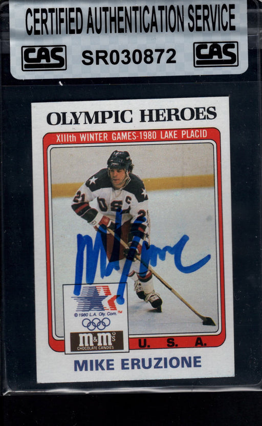 1983 finder signed 13 mike eruzione usa cas certificate of authenticity