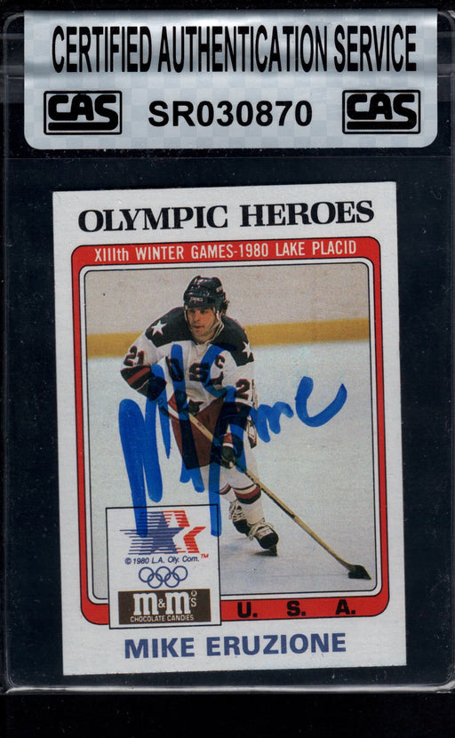 1983 finder signed 13 mike eruzione usa cas left side view