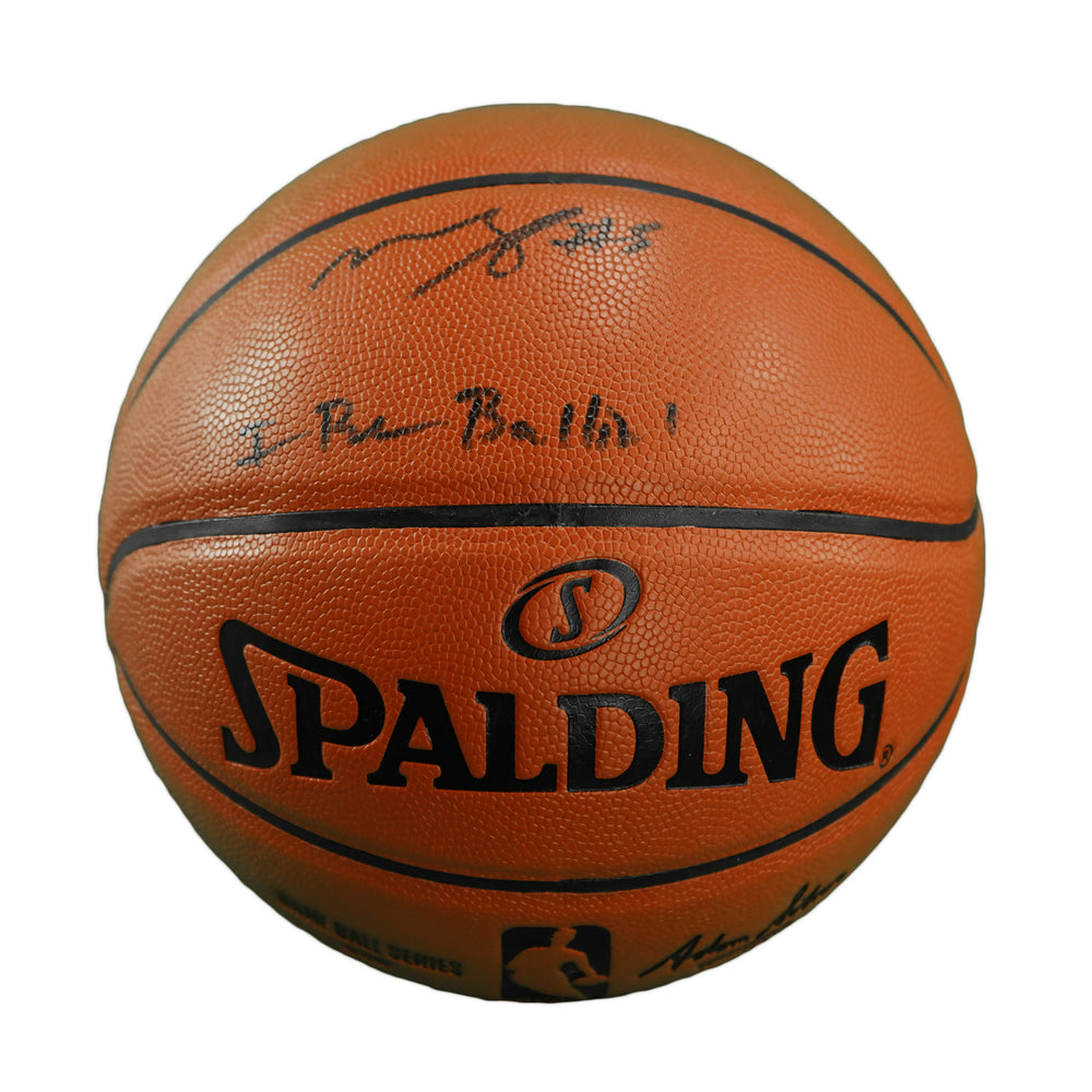 Mo Bamba Signed I Be Ballin' Spalding NBA Basketball (Beckett)