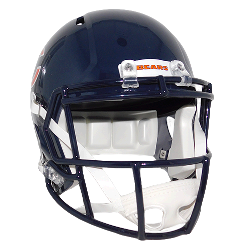 David Montgomery Autographed Chicago Bears Navy Blue Full Size Speed Football Helmet (JSA COA!