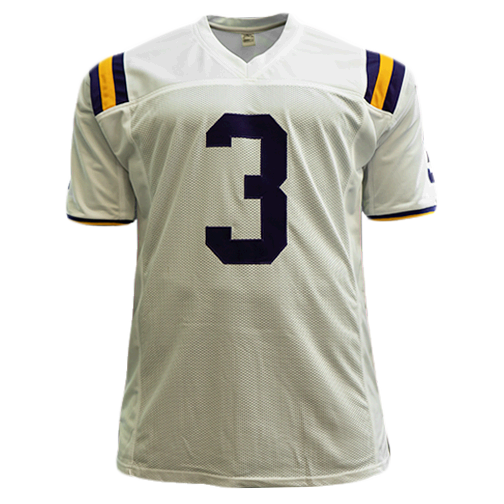 Odell Beckham Jr LSU Tigers College Autographed Football Jersey White (JSA)