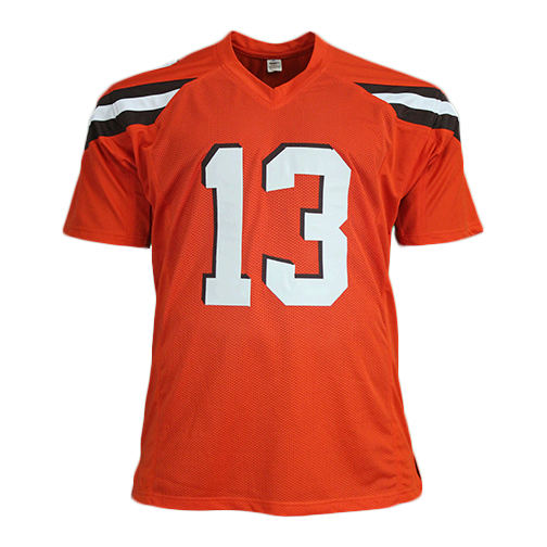 Odell Beckham Jr Autographed Pro Style Custom Football Jersey Orange JSA