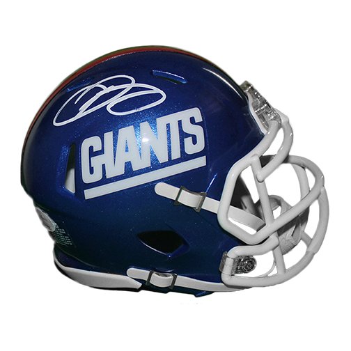 wholesale dealer 82039 1c2d3 Odell Beckham Jr New York Giants Football Autographed Mini Replica SPEED  Color Rush Helmet (JSA COA)