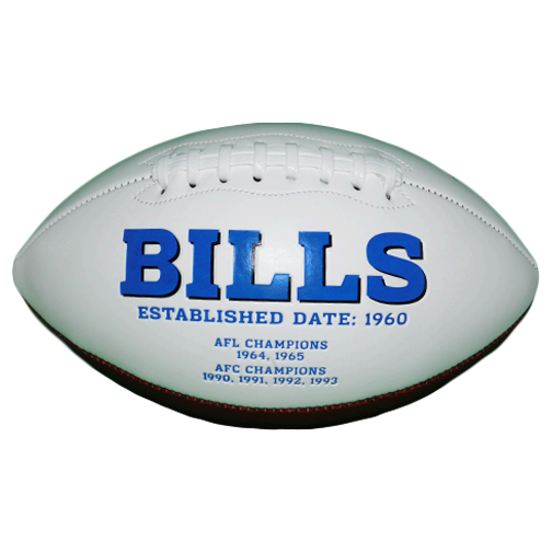 Marv Levy Buffalo Bills Autographed Football (Provo COA) HOF Inscription
