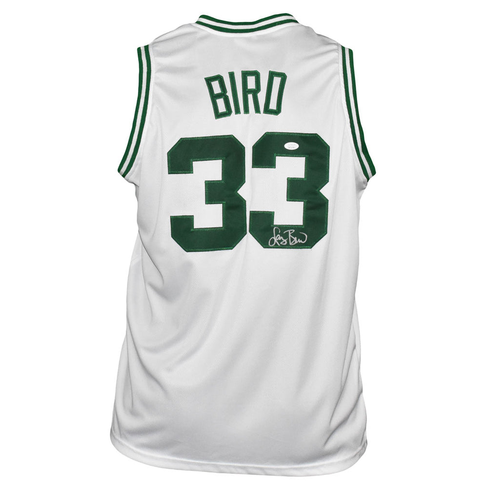 Larry Bird Signed Boston Pro White Basketball Jersey (JSA)