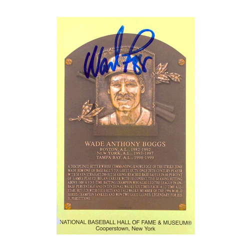 Wade Boggs AUTOGRAPHED BASEBALL HALL OF FAME POSTCARD JSA AUTHENTICATED!