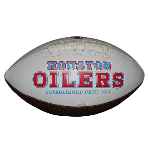Robert Brazile Houston Oilers Logo Autographed Football (JSA) HOF Inscription Included