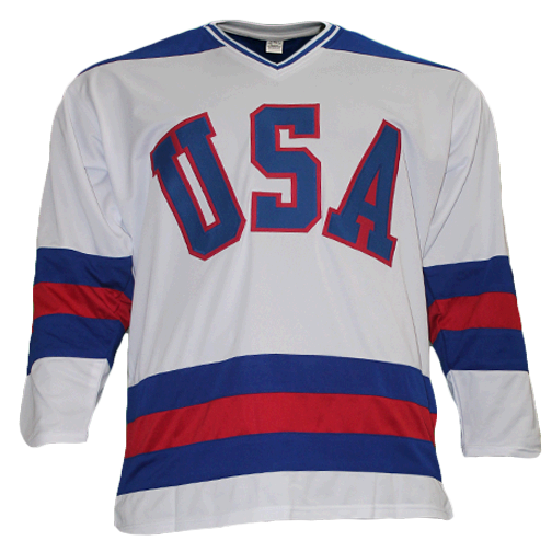 Neal Broten Team USA Autographed Hockey Jersey White (JSA)