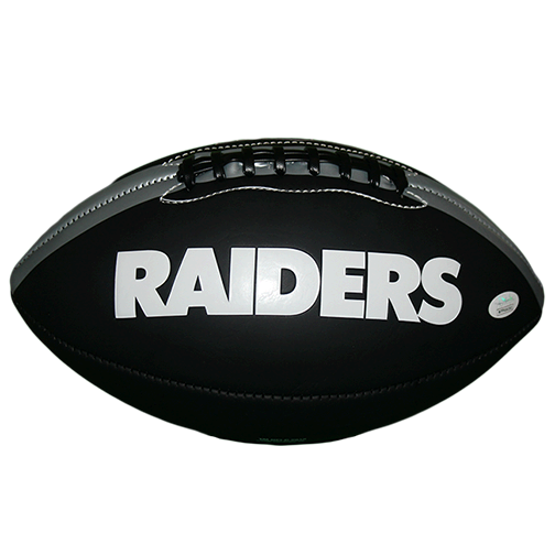Antonio Brown Autographed Oakland Raiders Full Size Logo Football (JSA)