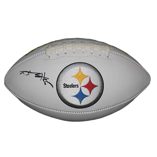 Antonio Brown Pittsburgh Steelers Autographed Full Size Logo Football (JSA)